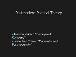 Modern and Postmodern Political Theory -