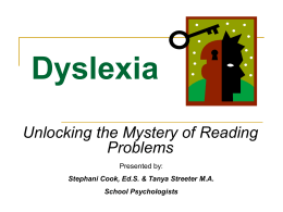 Dyslexia - Clarksville-Montgomery County School