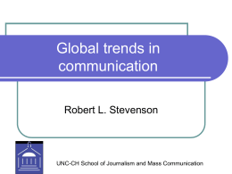 Global trends in communication