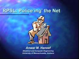 RPSL: Police'ing' the Net