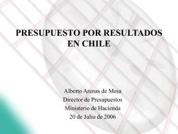 PRESUPUESTO POR RESULTADOS EN CHILE ¿UTOPIA O