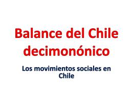 Balance del Chile decimonónico