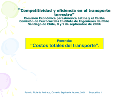 Estadísticas de Transporte Chile