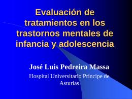 Evaluación de tratamientos en los trastornos