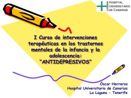 I Curso de intervenciones terapéuticas en los