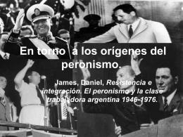 En torno a los orígenes del peronismo.