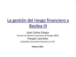 La crisis financiera actual y la Gestión de