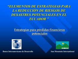 ELEMENTOS DE ESTRATEGIAS PARA LA REDUCCIÓN DE