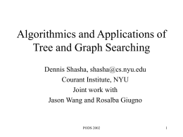 Searching for and Comparing Trees and Graphs