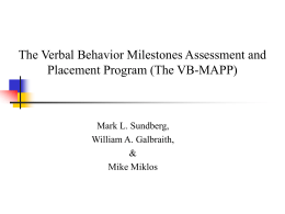 A Behavioural Approach to Language Assessment and