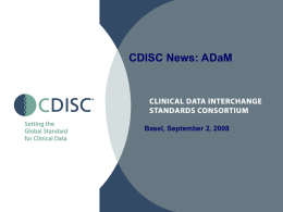 CDISC News: ADaM - Digital Infuzion, Inc.