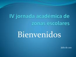IV jornada académica de zonas escolares