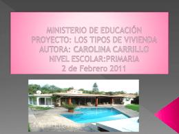 MINISTERIO DE EDUCACIÓN PROYECTO: LOS TIPOS DE