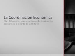 La Coordinación Económica