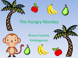 Mr. Monkey loves bananas