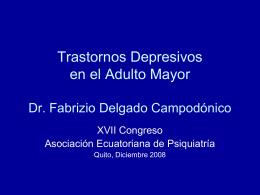 Depresión en el anciano