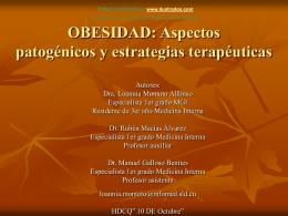 OBESIDAD: Aspectos patogénicos y estrategias
