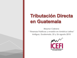 Tributación Directa en Guatemala