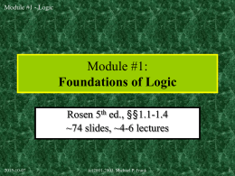 Slides for Rosen, 5th edition
