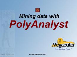 PolyAnalyst presentation - FHNW -