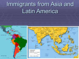 Immigrants from Asia and Latin America