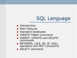 Il linguaggio SQL - Suore Salesiane dei Sacri