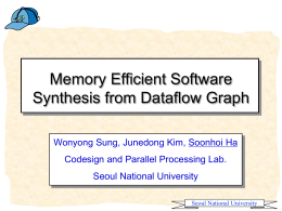 Memory Efficient Software Synthesis from Dataflow