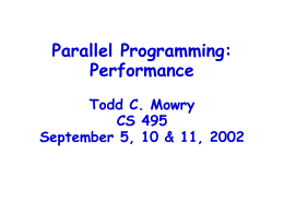 Parallel Computing CS 347 April 29, 1997