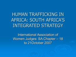 ENHANCED COMMUNICATION STRATEGIES IN SOUTH AFRICA