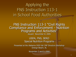 FNS Instruction 113-1 - Alabama Department of