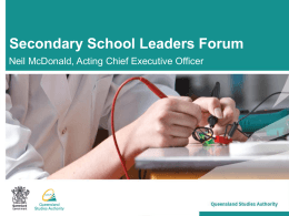 Secondary School Leaders Forum