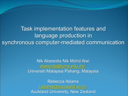 Task implementation features and language
