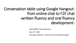 Conversation table using Google Hangout: from