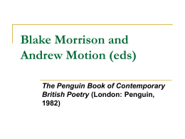 Blake Morrison and Andrew Motion (eds), The