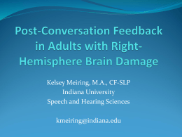 Post-Conversation Feedback in Adults with