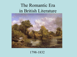 The Romantic Period in British Literature