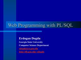 Databases on the Web - Georgia State University