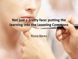 Not just a pretty face: putting the learning into