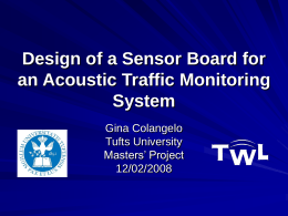 Design of a Sensor Board for an Acoustic Traffic