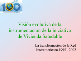 Visión evolutiva de la instrumentación de la