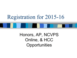 Registration for 2010-2011