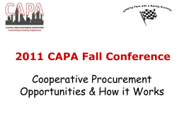 Cooperative Procurement Opportunities & How it