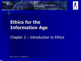 Ethics for the Information Age - Chapter 2 -