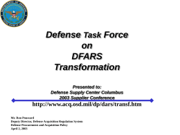 FAR/DFARS Transformation