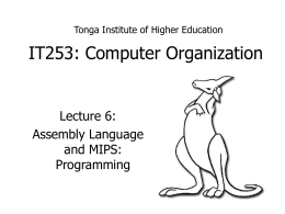 IT 253: Computer Organization