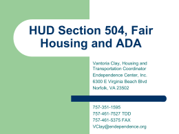 Fair Housing - Equal opportunity Fair Housing Laws