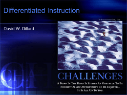 Differentiated Instruction Challenges