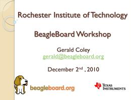 Texas Instruments UT-Austin BeagleBoard Challenge