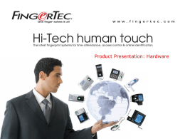 FingerTec® Product Presentation