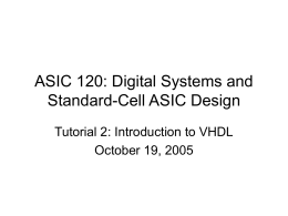ASIC 120: Digital Systems and Standard